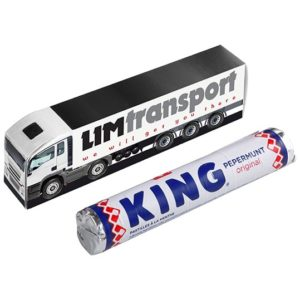 Mini truck met rol KING pepermunt