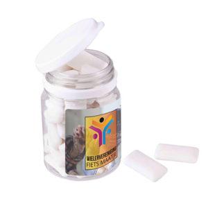 Plastic potje kauwgom