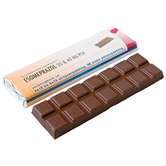 Chocoladereep in wikkel