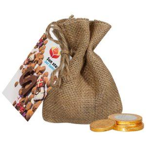 Jute zakje chocolademunten-2351