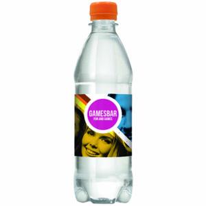 Draaidopflesje met 500 ml bronwater